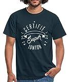 Photo de Spreadshirt Oncle Certifié Super Tonton T-Shirt Homme, L, Marine
