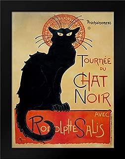 Tournee du Chat Noir 18x24 Black Modern Framed Art Print by Steinlen, Theophile