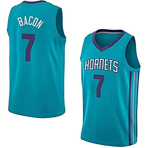 YCQQ Ropa Uniformes de Baloncesto para Hombres, Charlotte Hornets # 7 Dwayne Bacon NBA Basketball Jerseys Chalecos Casuales Camiseta sin Mangas Tops, Camiseta Deportiva(Size:S,Color:G1)
