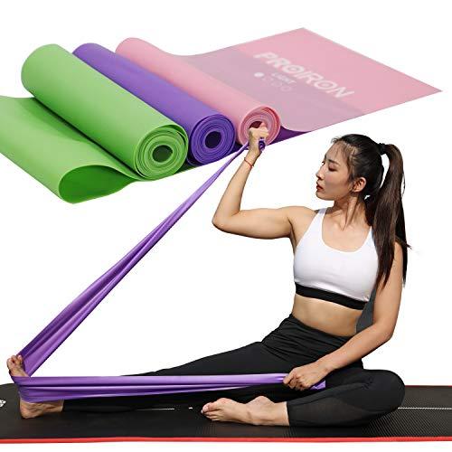PROIRON Bandas Elasticas Fitness sin Látex Resistencia Bandas de Ejercicios con Nivel de Marca para Pilates Yoga Entrenamiento de Fuerza | Fisioterapia y rehabilitación Conjunto de 2 m