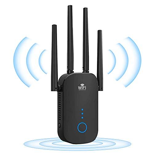 WLAN-Wireless Repeater WLAN-gigacube Verstärker Client - 1200 Mbit/s Dualband 5 GHz und 2,4 GHz durch Wände, WLAN-Netzwerkverstärker, kompatibel mit Allen WLAN-Geräten