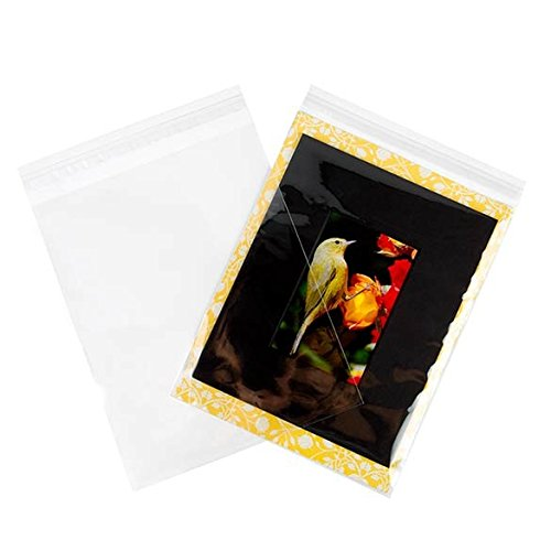 ClearBags 9 x 11 Clear Cello Bags | Resealable Adhesive on Flap, Not Bag | Great for Candy, Cookies, and Party Favors | Safe Storage of Documents, Pictures, Etc | Food Safe | B811A (Pack of 100)