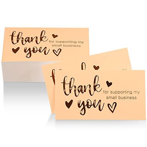 100 Biglietti da Visita di Thank You for Supporting My Small Business, Biglietti di Grazie per...