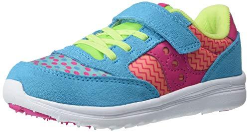 Saucony Girls' Baby Jazz Lite Sneaker, Turquoise/Multi Print, 9.5 W US Little Kid