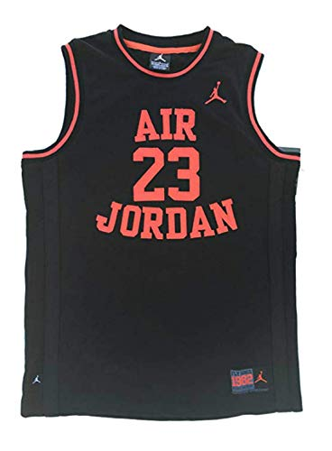 Nike Air Jordan Boy's Youth Classic Mesh Jersey Shirt, (8-10 yrs), Black/Infrared, Size Small