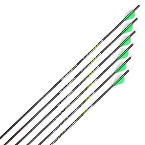 Razor ZX600 Archery Carbon Arrows, 29-Inch by Allen, 6 Pack, Gray