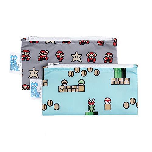 Bumkins Snack Bags Nintendo Reusable Washable Food Safe BPA Free 2-Pack – 8-Bit Game  Pixel