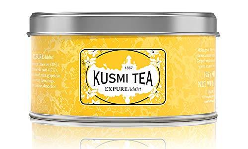 Kusmi Tea - Expure Addict - Grüner Tee mit Mate, Rooibos und Kräutern, aromatisiert - Grapefruit - Metalldose 125g