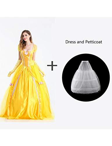 Disfraces de la Bella y la Bestia de Halloween Mujeres Vestidos para Adultos...