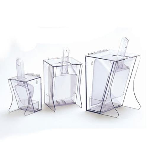 """Cal-Mil 355 Freestanding Scoop Holders, 6"""" W x 5.25"""" D x 11.5"""" H, Clear"""