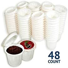 iFillCup, fill your own Single Serve Pods. Red lid 100% recyclable pods for use in all k cup brewers including 1.0 & 2.0 Keurig. 48 iFill Cup airtight seal in freshness pods. (Red)