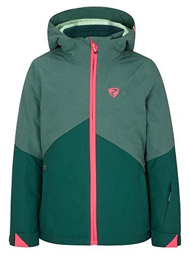 Ziener Mädchen Alani Junior Kinder Skijacke, Winterjacke | Wasserdicht, Winddicht, Warm, Spruce Green Washed, 152