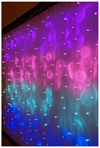 Something Unicorn - LED String Curtain Lights with Dimmer Switch for Teen Room, Girls Room, College Dorm, Nursery and Kids Room Decor. Perfect for Mermaid, Purple, Pink Decoration. (Standard Version)
