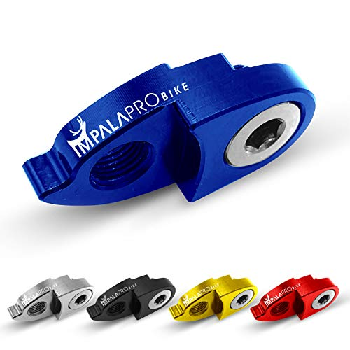 IMPALAPRO Bike Extensor del Gancho del Cambio o desviador Trasero para Bicicleta montaña (MTB) y Carretera. Ultraligero y Resistente. Gran Durabilidad y Alta compatibilidad con Shimano y SRAM (Azul)