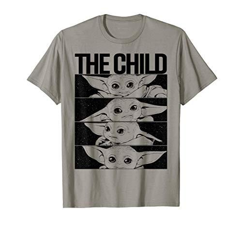 Star WarsStar Wars Mandalorian The Child B&W Comic Strip Camiseta