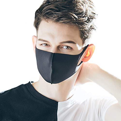 LOOKA MASK Protective Fashion Air Mask | Comfortable, Lightweight, Thin | Easy Breathability | Logo Black (Medium)
