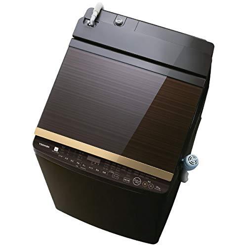 東芝「ウルトラファインバブル洗浄」搭載縦型洗濯乾燥機(グレインブラウン)AW-10SV7-T