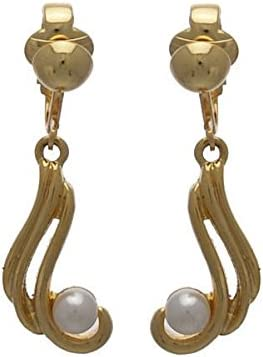 Querida Gold tone faux Pearl Clip On Earrings