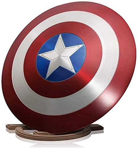 STZYY Marvel Capitán Americano Escudo de Metal con Soporte de Madera, Adulto...