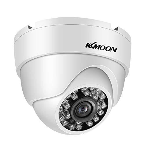 OWSOO 1080P Full HD Cámara de Seguridad AHD, Cámara Exterior, a Prueba de Agua, Visión Nocturna, Detección de Movimiento para Sistema DVR PAL Analógico, Blanco