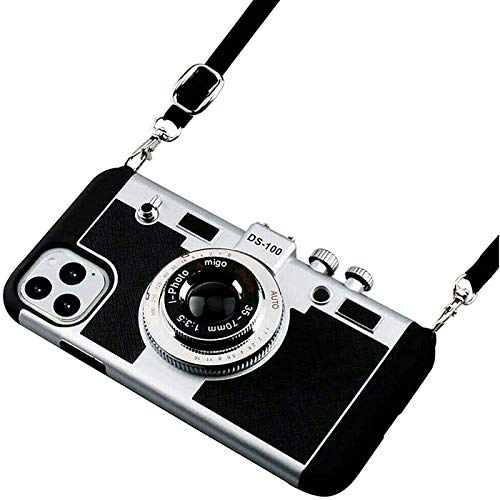 New 3D Emily in Paris Phone Case Vintage Camera with Long Strap Rope for iPhone 11 /Pro/Max (iPhone 11 PRO)