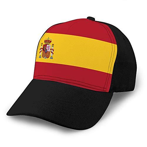 hyg03j4 3 Gorra Ajustable de béisbol Gorra de Fondo Plano Bandera España Gorra de béisbol de Mezclilla Personalizada
