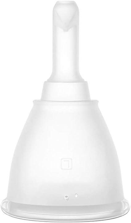 Copa Menstrual - Copa de Silicona con válvula (Grande/pequeña ...