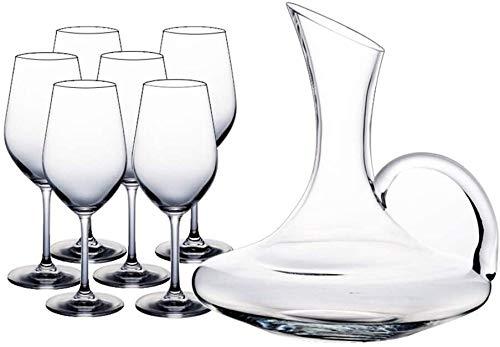 Decantadores Copa de Cristal de Vino Tinto Europeo Casa Creativa de Cristal Grande de Cristal de Vino Gama Alta de 7 Piezas Traje