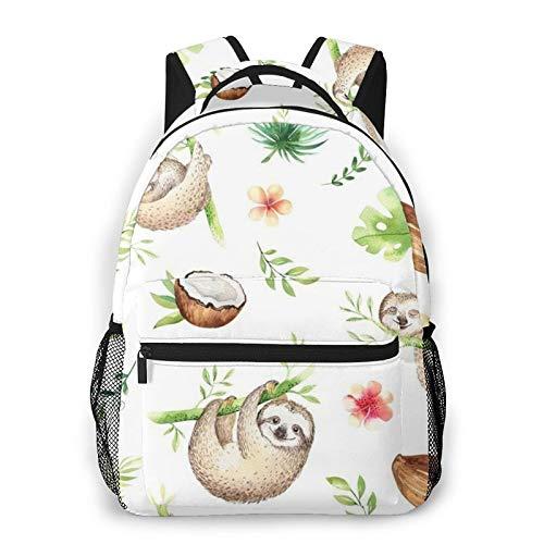 Sloth Nursery Print Backpack Printing Laptop Waterproof Anti-Theft Casual Backpack Bag Usb Charging Port Backpack Unisex