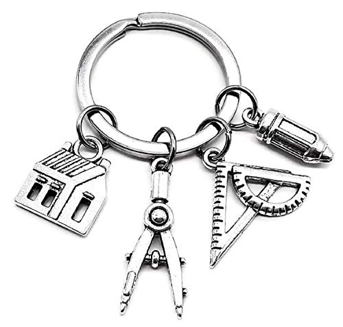 Architect Dangling Charm Keychain