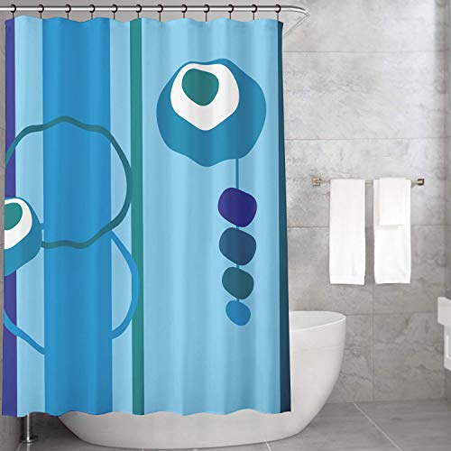 Bonamaison Cortina de Baño, Cortina de Ducha Impresa Digitalmente 140x200 cm - Diseñado y Fabricado en Turquía