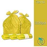 Palucart® Sacchi spazzatura colore GIALLO cm 70x110 (110 litri) 350 pezzi...