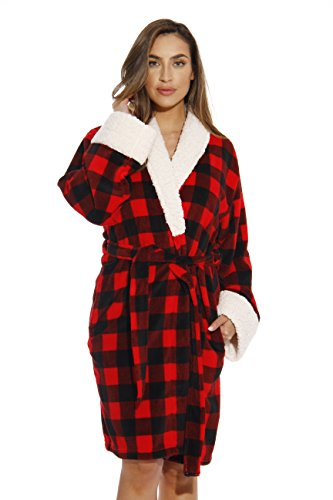 Just Love Kimono Robe Bath Robes for Women 6343-10195-1X Red/Black