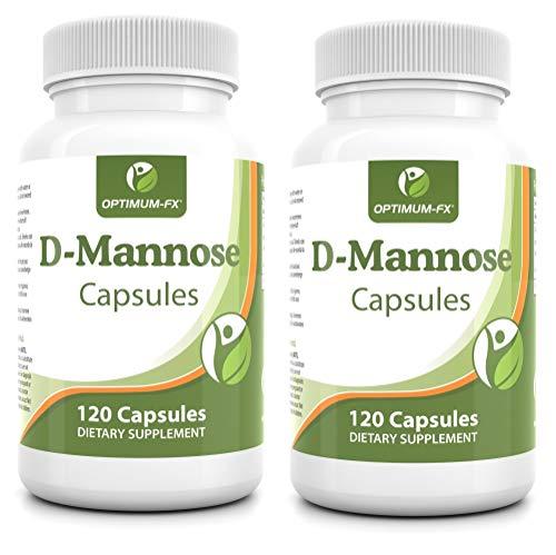D Mannose Poeder Capsules – Makkelijker in te Nemen dan Tabletten 2000 mg Dagelijkse Dosering – Dubbele Werkzaamheid Pure Kwaliteit – D-Mannose 500 mg Veganistisch Vegetarisch HPMC Capsules