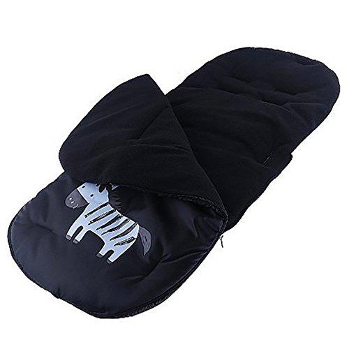 Gosear Saco de bebé para cochecitos de bebé sillas de Paseo o cunas Negro