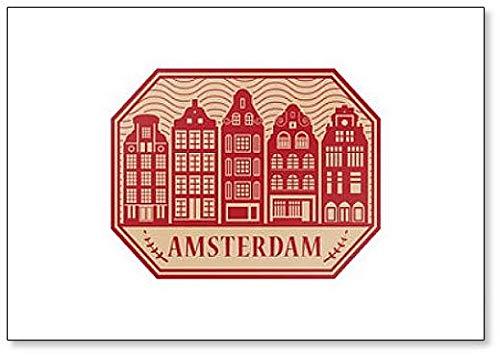 Imán para nevera, diseño de Ámsterdam, Países Bajos