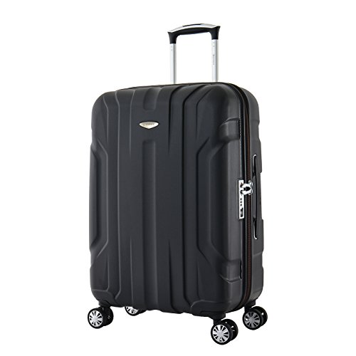 Eminent Suitcase X-TEC 66 cm 70 L Polycarbonate Hard Shell Anti-Scratch Surface 4 Double Wheels TSA Lock Black