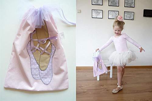 Kleine Tasche Ballerina, Tasche auf Hausschuhe, personalisierte Kinder Ballerina - Custom Mädchen Kinder Schule Tasche - gesticktem Namen, niedlich