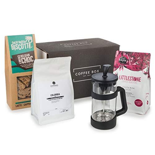 Kaffeedose – Kaffee-Geschenk-Set mit Kaffeepresse
