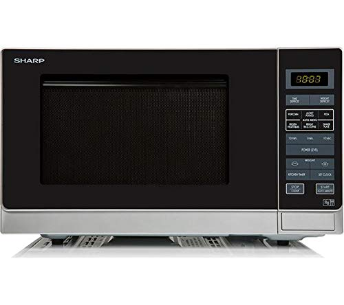 Sharp R372SLM Solo Touch Control Microwave, 25 Litre capacity, 900W, Silver