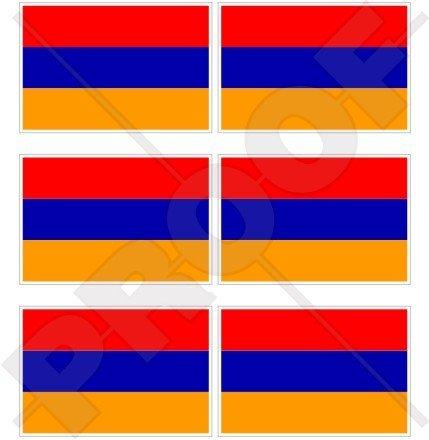 Armenien Armenische Flagge 40mm (40,6cm) Mobile, Handy Vinyl Mini Sticker, Aufkleber X6