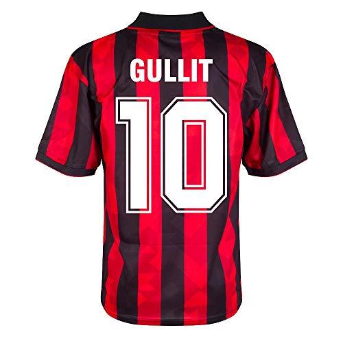 Score Draw AC Mailand Home Retro Gullit 10 Trikot 1993-1994 (Retro Filz-Spielerbeflockung) - L