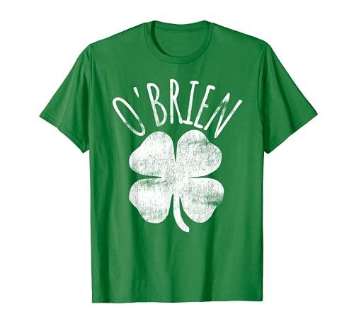 O'Brien Irish Clover Da de San Patricio Familia Camiseta