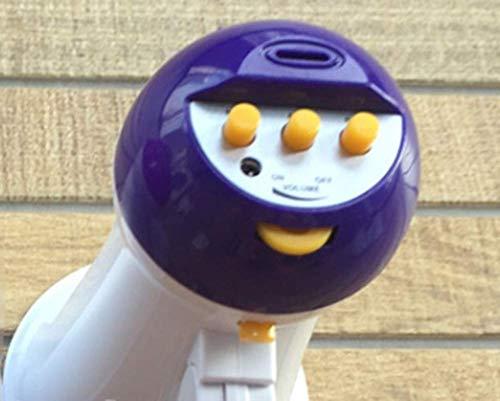 Massage Megáfono Plegable Micrófono portátil Bocina Amplificador de Altavoz Ruidoso,Purple
