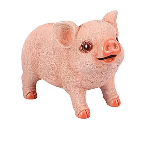 XHAEJ Hucha digital contador de hucha, resina creativa hucha banco de monedas cerdo caja de dinero decoración familiar regalo bancos alcancías