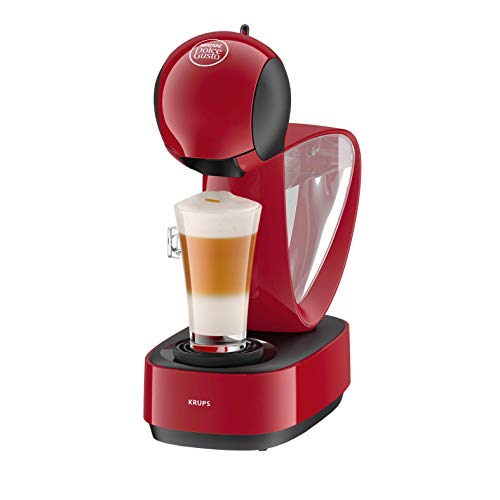 Krups Dolce Gusto Infinissima KP1705SC - Cafetera de cápsulas Dolce Gustocon 15 bares de presión, depósito extraible, bandeja regulable a 3 alturas, color rojo (Reacondicionado)