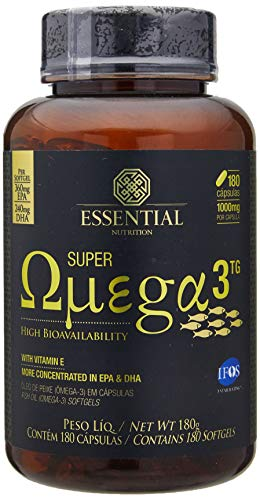 Super Ômega 3 Tg 1000 Mg - 180 Cápsulas, Essential Nutrition
