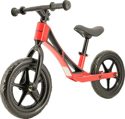 Kidzmotion Bicicleta ligera del entrenamiento de la bici del equilibrio de los niños de la aleación del Mag (rojo del