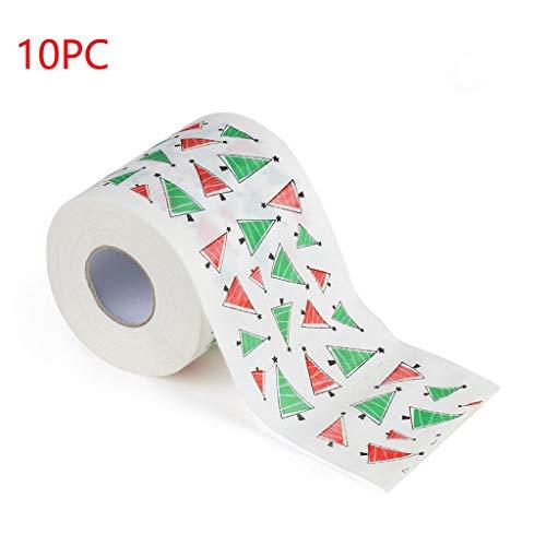 Somerl Toilettenpapierrollen 10 Rollen Weihnachten Toilettenpapier Papier Toilettenpapier Tücher Küchenrolle Feuchttücher Toilettenpapier(B,45x15x15cm)