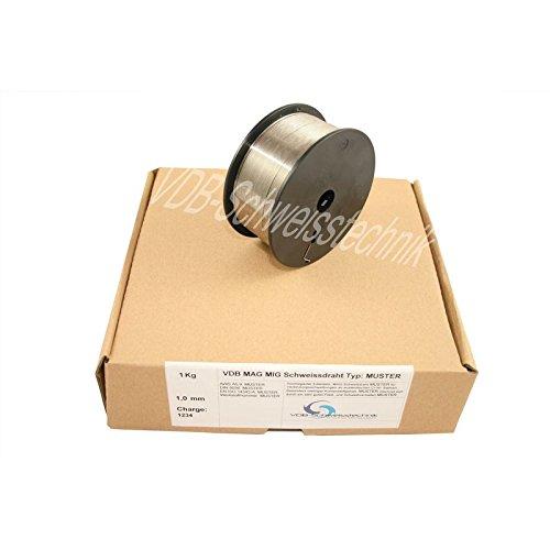 Schweißdraht MAG Edelstahl 1.4430-0,8 mm Spule - D100-4430 V4A - 1,0 Kg